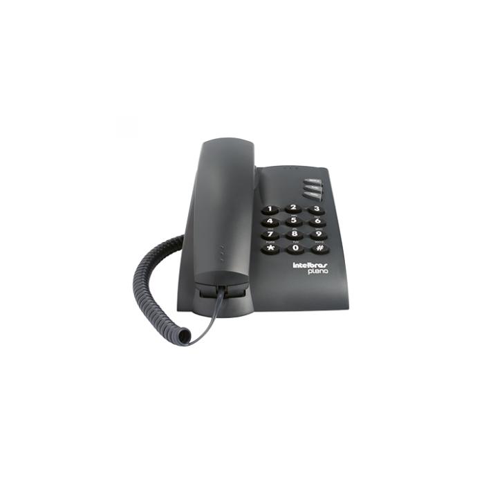 Telefone Intelbras Pleno Preto com Chave
