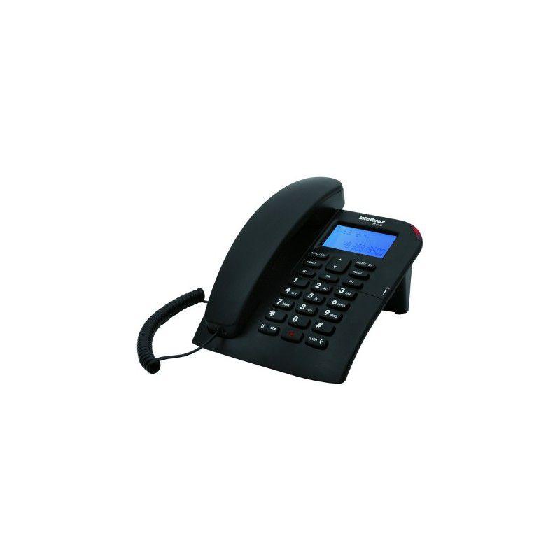 Telefone Intelbras TC 60 Preto Identificador e Viva Voz