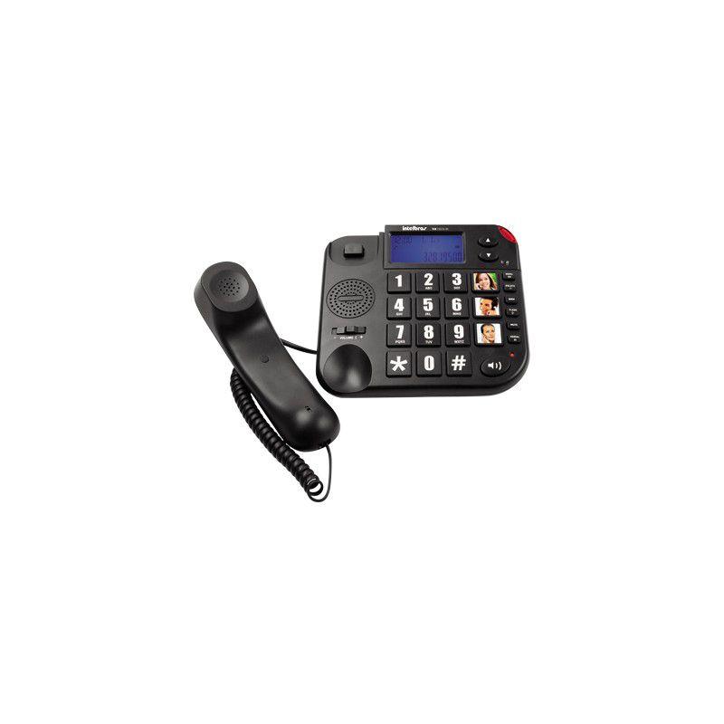 Telefone Intelbras Tok Fácil com Identificador Preto