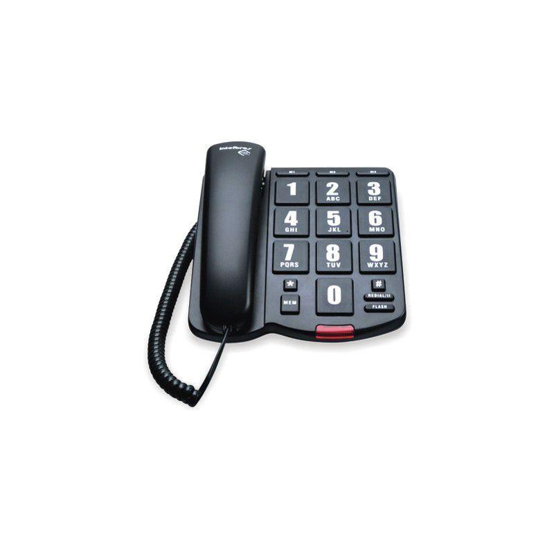 Telefone Intelbras Tok Fácil Preto