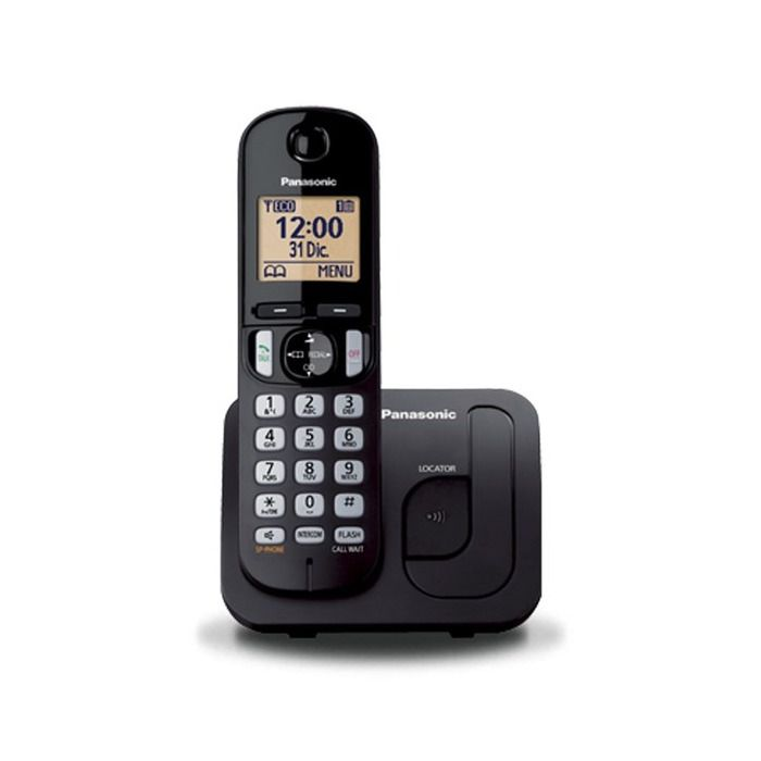 Telefone Sem Fio Panasonic KX-TGC210LB Preto