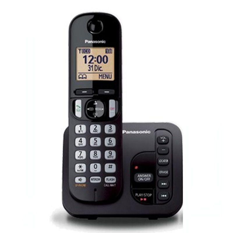 Telefone Sem Fio Panasonic KX-TGC220LBB Secretaria Viva Voz