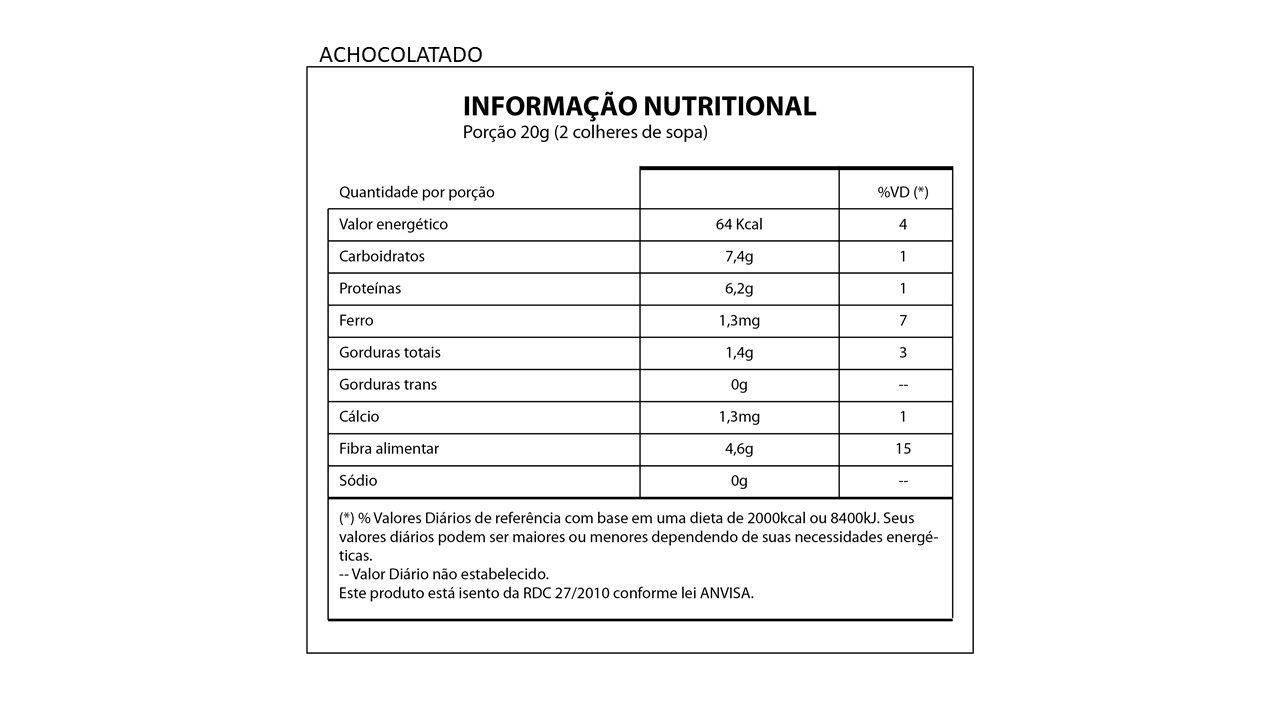 Achocolatado Cacau Protein - ZERO AÇUCAR / 55% Cacau - Natures Nutrition 220g