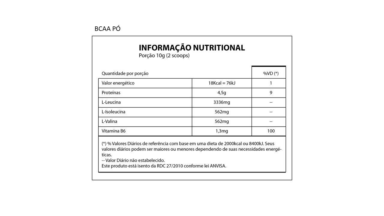 BCAA PÓ Drink 8.1.1 - Nutrihealth Suplementos - 300Gr