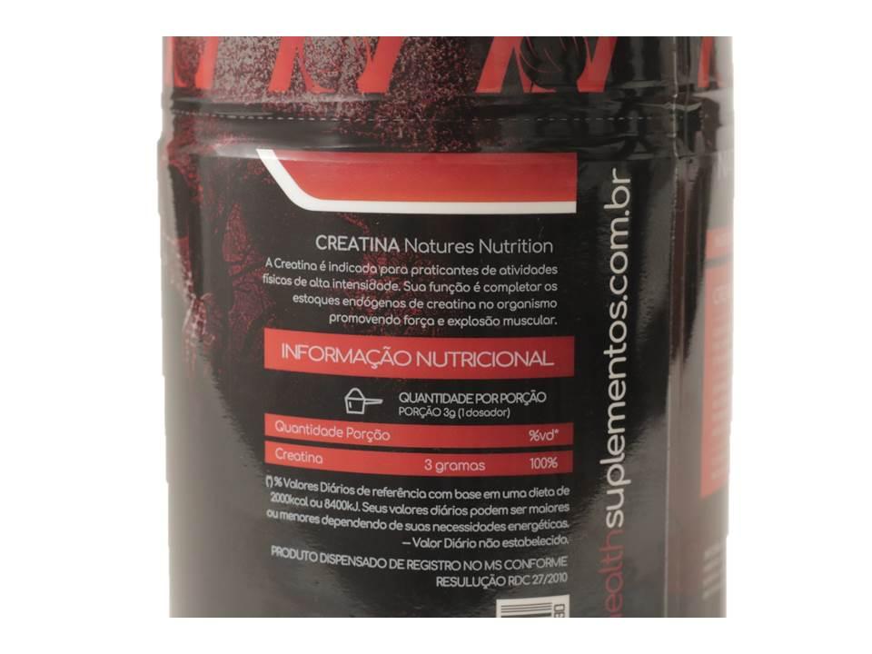 Creatina em pó  300g - 100% Creapure  - Natures Nutrition