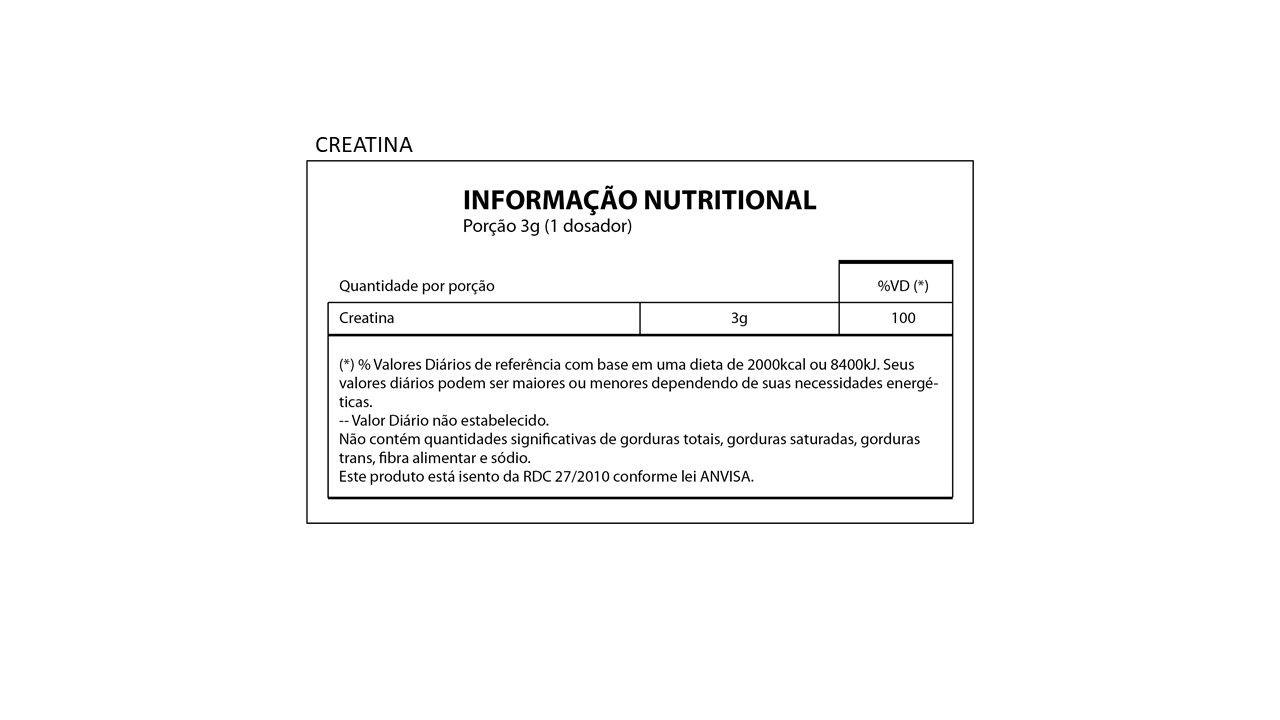 Creatina em pó  300g - Creapure  - Natures Nutrition