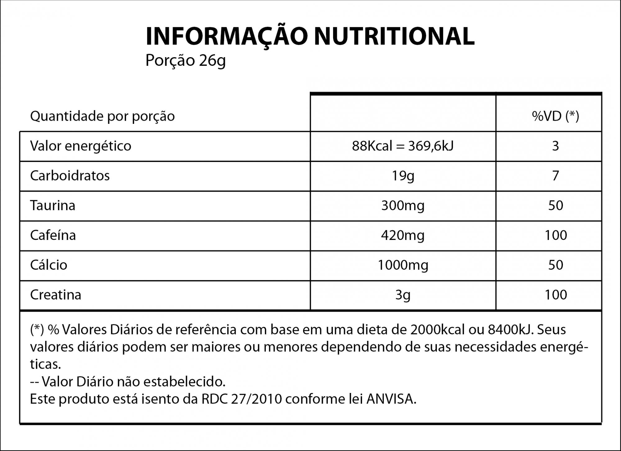 Kit 4x Pré treino Monstrão - Xcharge 702g Nutrihealth Suplementos