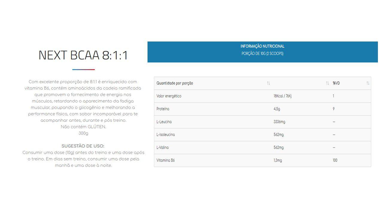 Kit 3x Bcaa 8:1:1 pó 300g + Coqueteleira