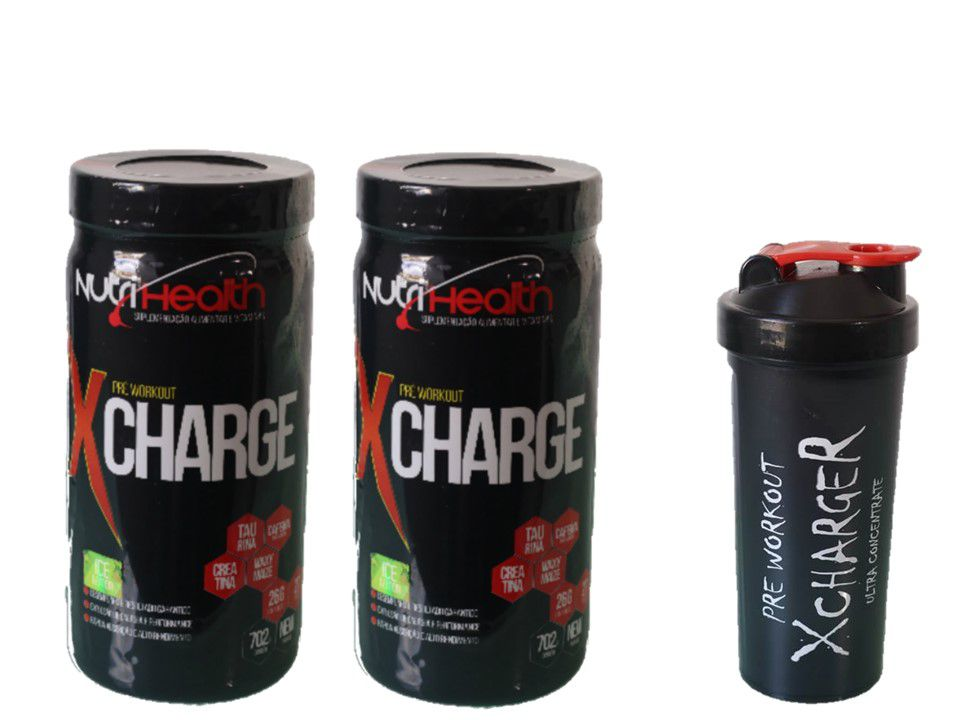 Kit 2x Pré treino Monstro - Xcharge 702g Nutrihealth Suplementos