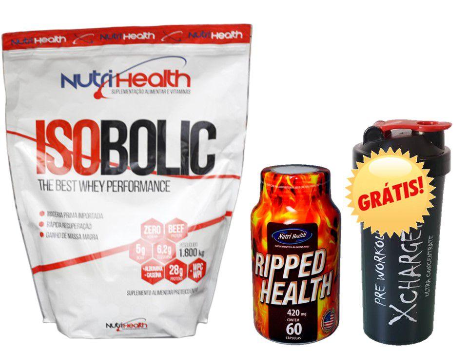 Kit Proteico Isolado de 1800kg + Cafeina 420mg