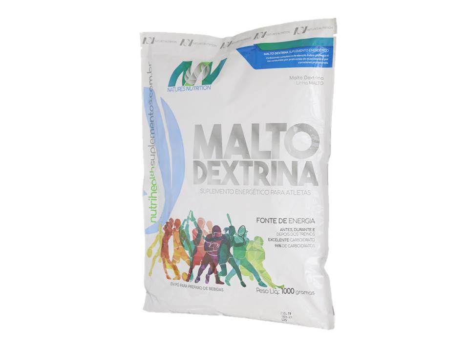 Malto Dextrina 1kg - Limão - Natures Nutrition - Energia para Atletas