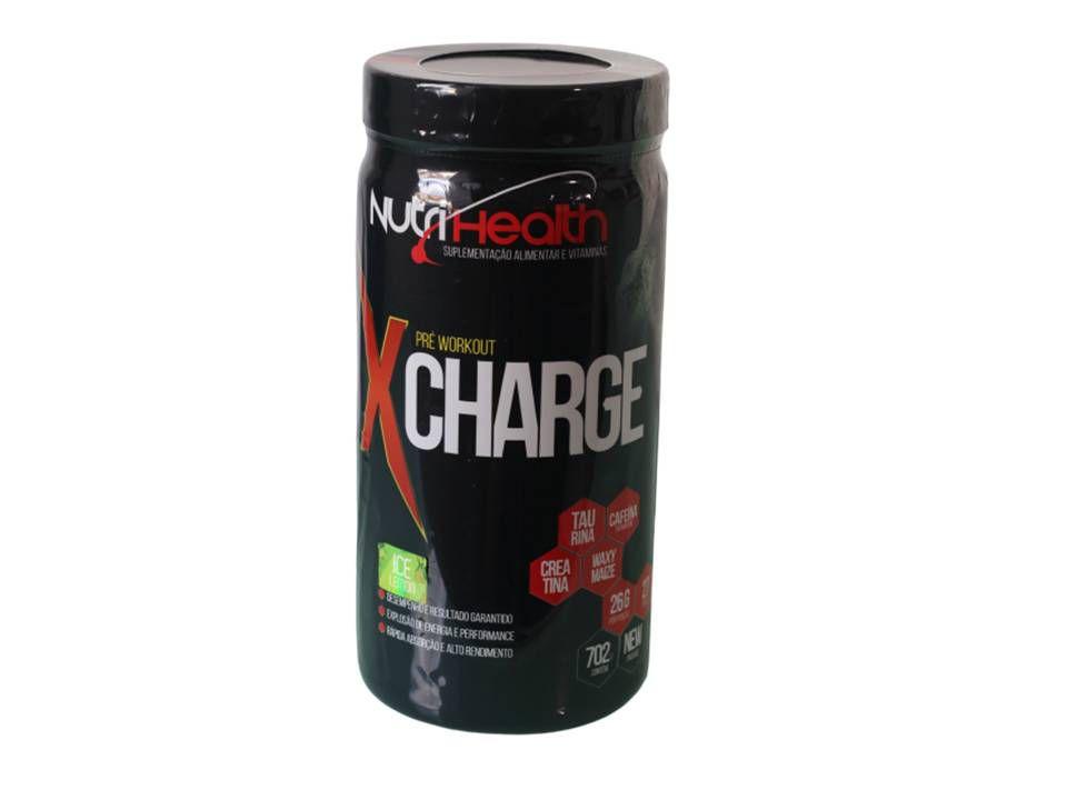 Pré Treino X-Charger Ultra Concentrado 702gr - Guaraná com açai - Nutrihealth Suplementos