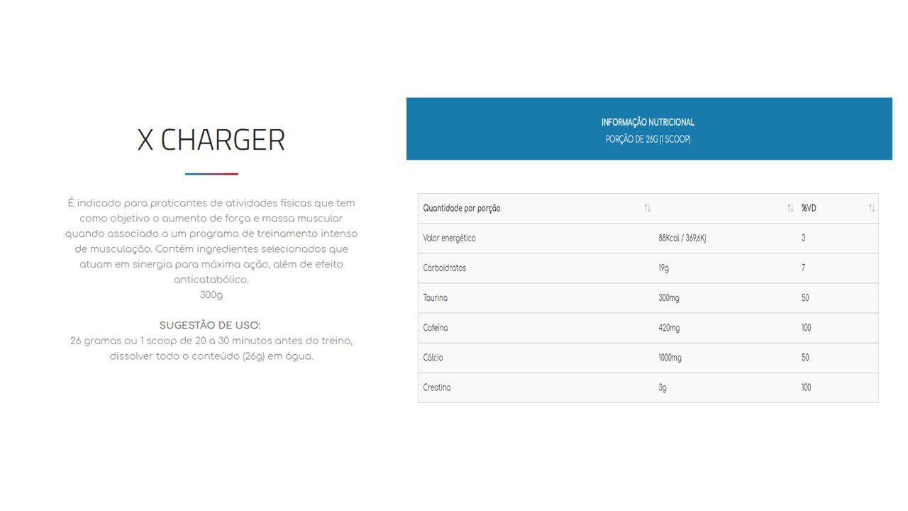Pré Treino X-Charger Ultra Concentrado 702gr - Laranja - Nutrihealth Suplementos