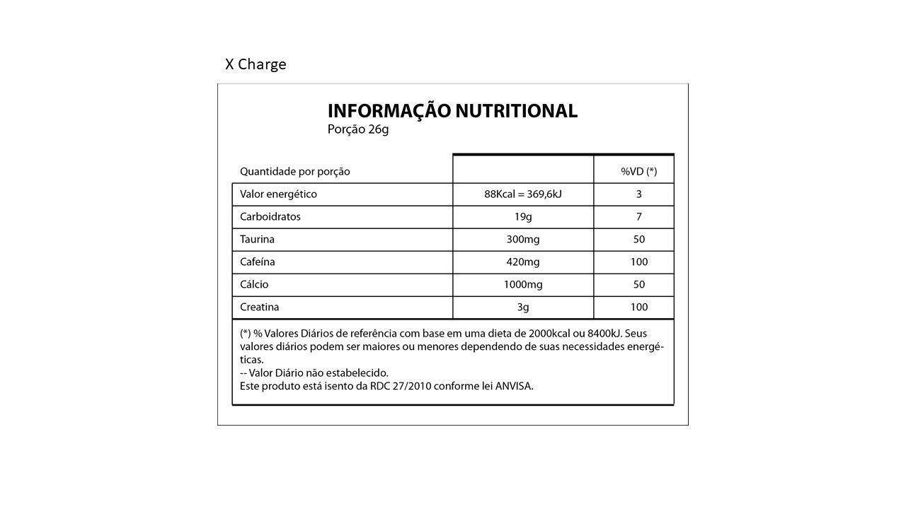 Pré Treino X-Charger Ultra Concentrado 702gr - Limão - Nutrihealth Suplementos