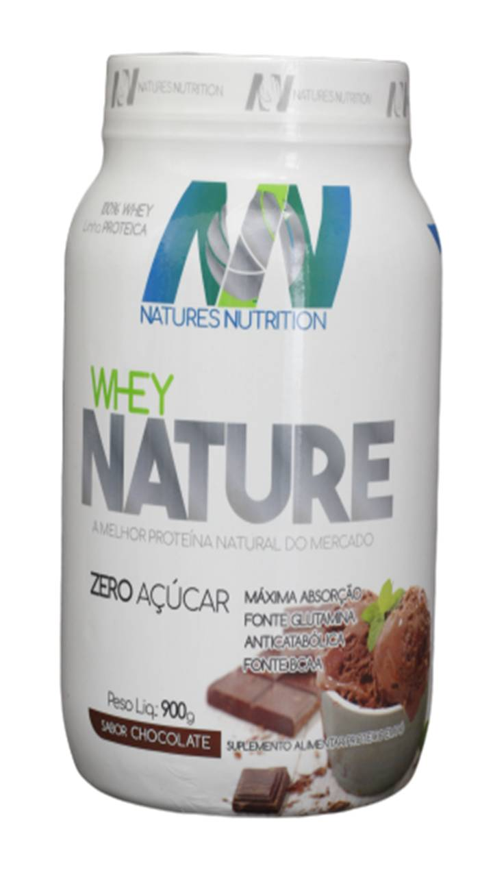 Whey NATURE 900g - Zero Açucar - Natures Nutrition