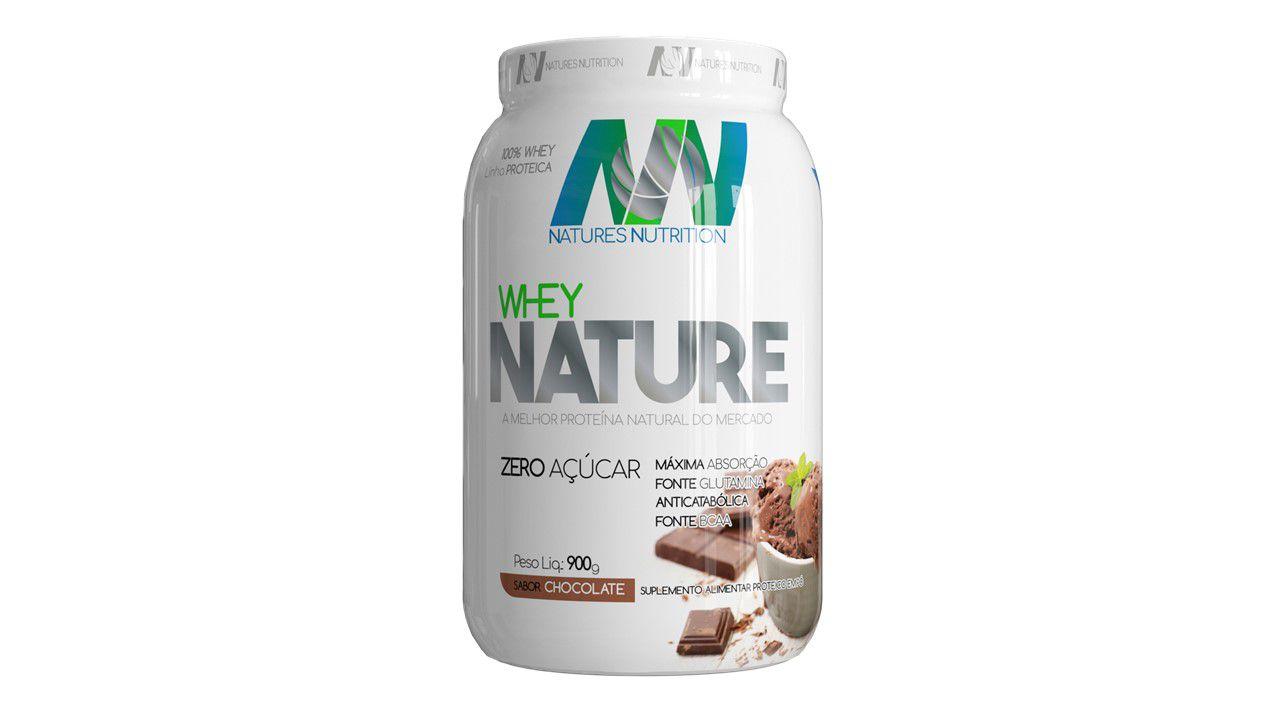Whey NATURE 900g - Zero Açucar - Natures Nutrition