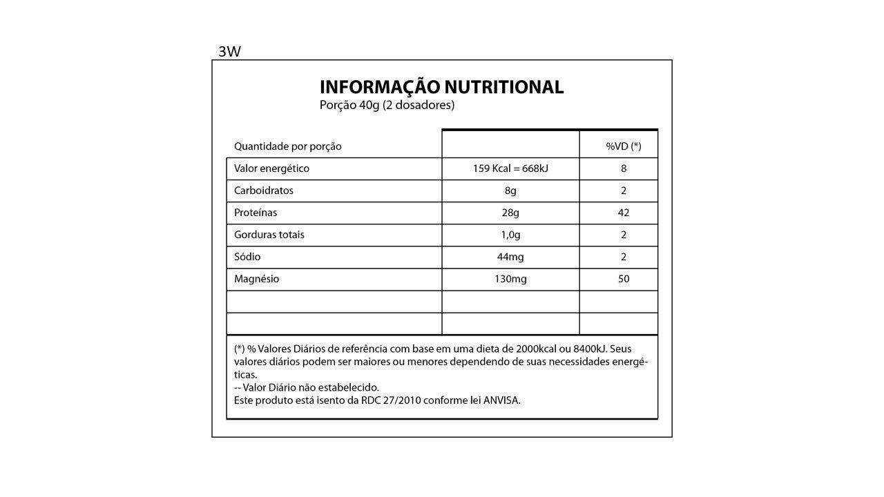 Whey Protein 3W - Pote 900 Gr - 28g proteína - Nutrihealth Suplementos
