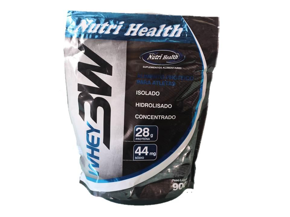 Whey Protein 3W - refil 900 Gr - Nutrihealth Suplementos