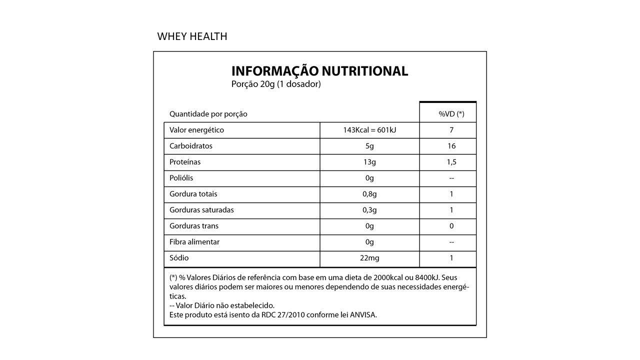 Whey Protein  Health 2W - 28g de Proteína - 900g - NutriHealth Suplementos