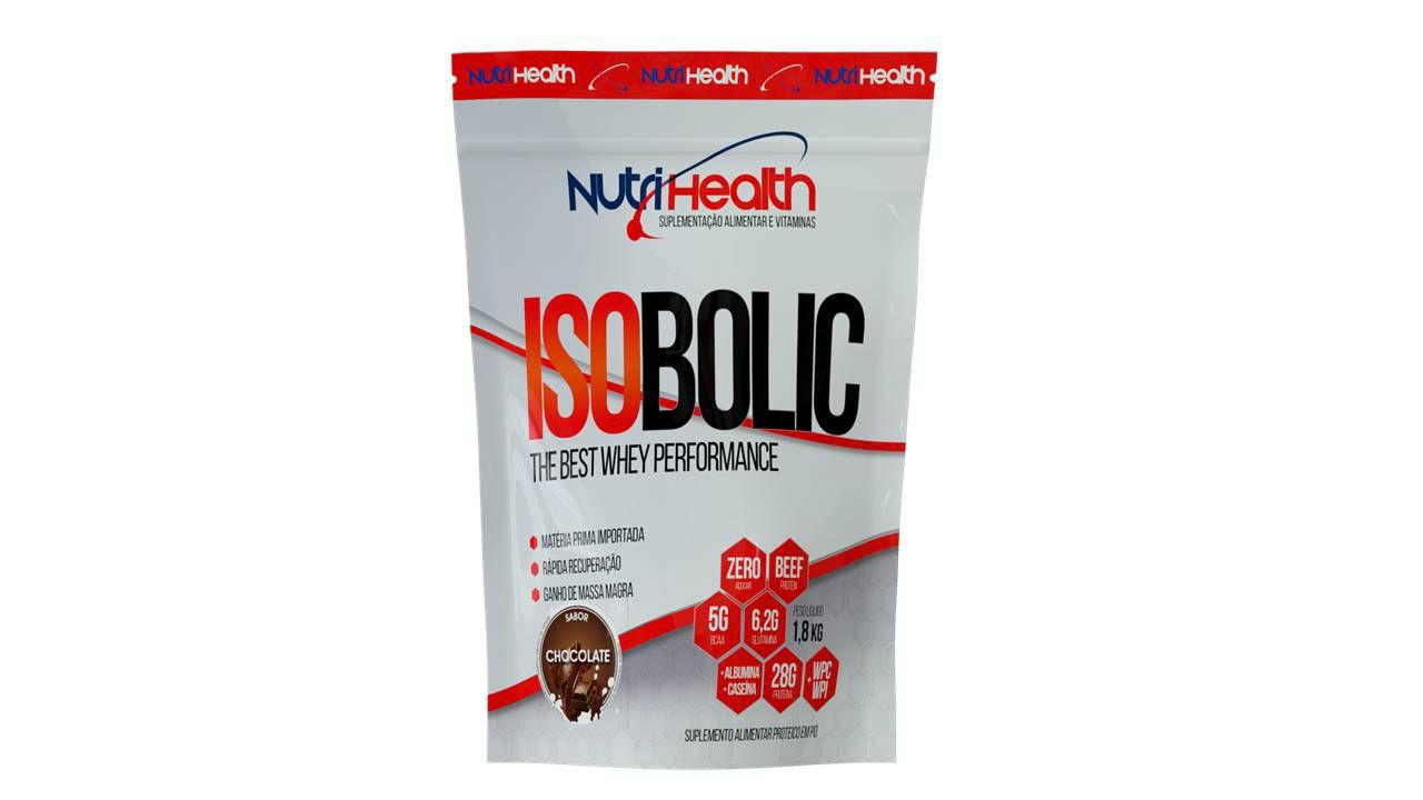 Whey Protein Isolado - Isobolic 1800kg - 32g proteína - Nutrihealth Suplementos