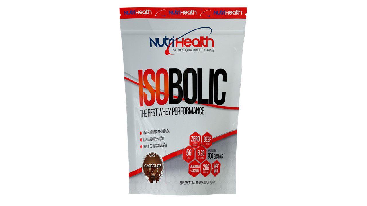 Whey Protein Isolado - Isobolic 900g - 32g proteína - Nutrihealth Suplementos