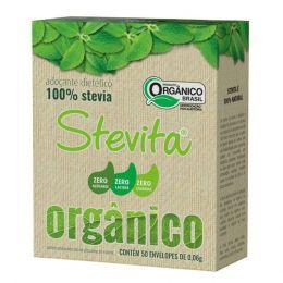 Adoçante Stevita Orgânico 100% Stevia (50 sachês) - Stevita