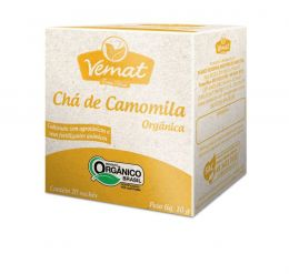 Chá de Camomila Orgânica (10 Sachês 10g) - Vemat