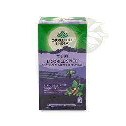 Chá Tulsi Alcaçuz e Especiarias LICORICE (25 Sachês) - Organic India