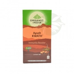 Chá Tulsi Ayush Kwath IMMUNITY BOOSTER (25 Sachês) - Organic India