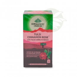 Chá Tulsi Canela e Rosas CINNAMON ROSE  (25 sachês) - Organic India
