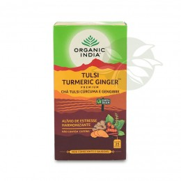 Chá Tulsi Cúrcuma e Gengibre - TURMERIC GINGER (25 Sachês) - Organic India
