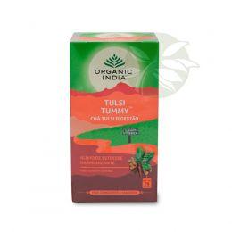 Chá Tulsi Digestivo TUMMY (25 Sachês) - Organic India