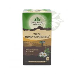 Chá Tulsi Mel e Camomila (25 sachês) - Organic India