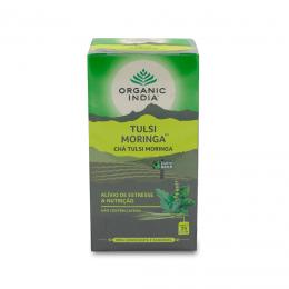 Chá Tulsi Moringa (Anti-Estresse) 25 sachês - Organic India
