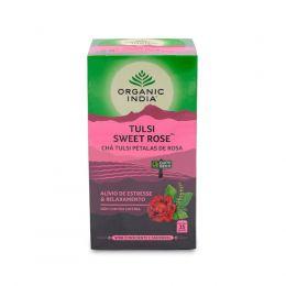 Chá Tulsi Sweet Rose - Pétalas de Rosa (25 sachês) - Organic India