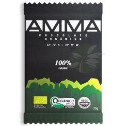 Chocolate Orgânico Amma - 100% Cacau 30g