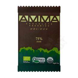 Chocolate Orgânico 75% Cacau 30g - Amma