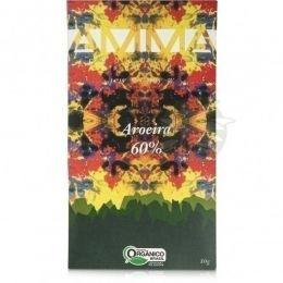 Chocolate Orgânico Aroeira 60%  (Pimenta Rosa )80g - Amma