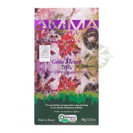Chocolate Orgânico Gula Merah 70% Cacau 80g - Amma