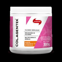 Colagentek Colágeno Hidrolisado (Laranja c/ Acerola - Limão) 300g - Vitafor