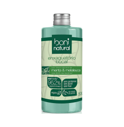 Enxaguante Bucal Menta e Melaleuca 500ml -  Boni Natural