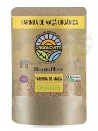 Farinha de MAÇÃ ORGÂNICA 100g - Organovita Uva'Só