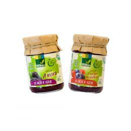 Geleia AMORA Orgânica/ Geleia FRUTAS VERMELHAS Orgânica (Zero Açúcar) 180g  - Coopernatural