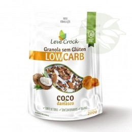 Granola Low Carb Coco e Damasco 200g - Leve Crock