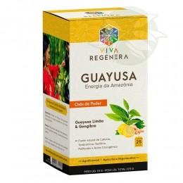 Guayusa Limão & Gengibre - Chás de Poder Viva Regenera - 25 Sachês