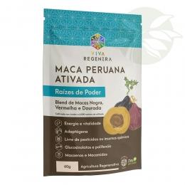 Maca Peruana Ativada - Blend de  Macas Negra, Vermelha e Dourada - 60g - Viva Regenera