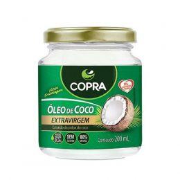 Óleo de Coco Copra [ Extra Virgem ] [ Extra Virgem Orgânico ] [ Sem Sabor ] 200 ml