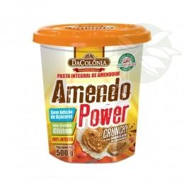 Pasta de Integral de Amendoim - Amendo Power Crocante 500g - Da Colônia