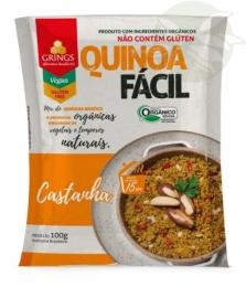 Quinoa Fácil Castanha Orgânica 100g - Grings