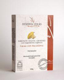 Sabonete Cacau e Macadâmia Orgânico 100g - Reserva Folio